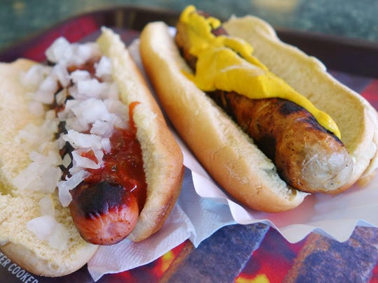 Red and white hots at Ted's Hot Dogs in Tempe.