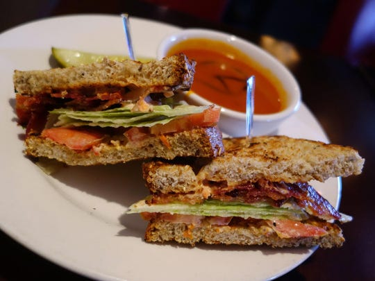 Multigrain toast on the BLT at 5th and Wine is a little