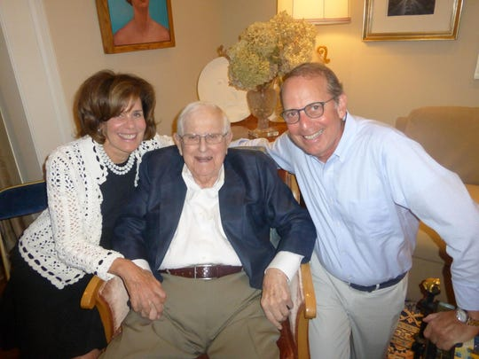 Family photo of Joy Nachman and Joe Orley of Bloomfield Hills and event co-chair Rob Orley of Franklin.