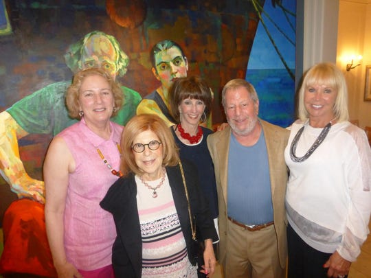 Franklin resident Cathy Deutchman, Cabaret 313 advisory member Lois Shaevsky of Bloomfield Hills, Huntington Woods residents Hazel and Robert Karbel and Marilyn Gardiner at Beverly Hills. Shaevsky is co-chair of the upcoming Emagine Palladium grand opening Sept. 27, 29 and Oct. 1. Tickets can be ordered by calling 248-258-5511.
