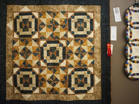 Jane Olson created this quilt, part of the Winter Fair Quilt Show at the Lewistown Art Center.