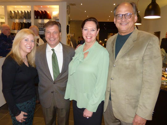 Bloomfield Hills residents Colleen and Rich Tropea, retiring chairman of the BBSO board; and Debby and Kevin Heinl of West Bloomfield.