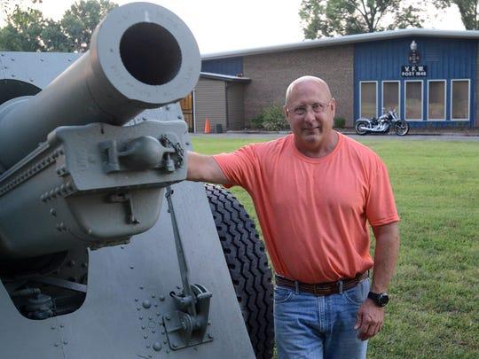 Jon Harrison, senior vice commander for Post 1848, poses Thursday outside VFW Post 1848.