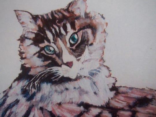 """Cat Portrait"" Colored Pencils, by Earl Thompson"