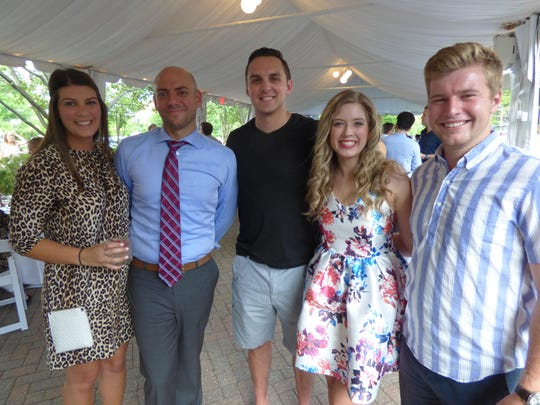 Ali Restaino of Birmingham, Joe Bartell of Plymouth, Antonio DeSano of Rochester Hills and a PAC member; event chair and TCH board member Dana Sorensen of Birmingham and Grant Juth of Ann Arbor.