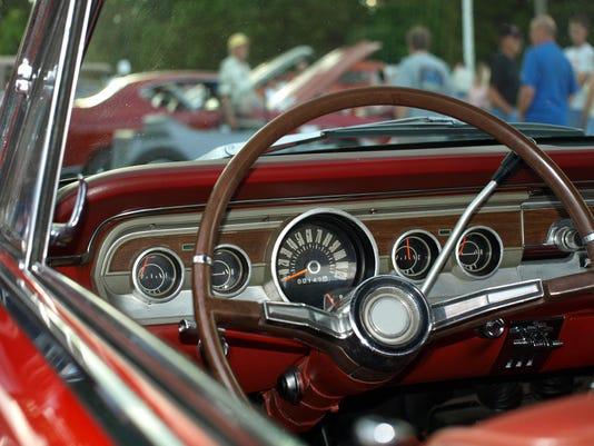 Vintage Red Convertable interior