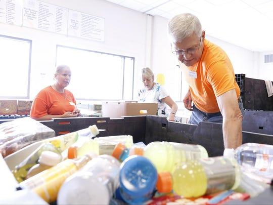 Food Bank of the Southern Tier volunteer Joe Thomas,