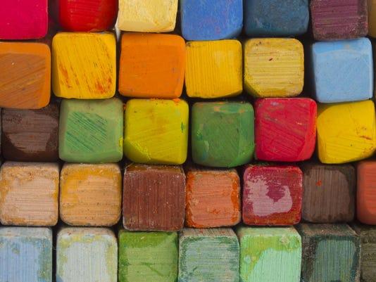colorful artistic pastels
