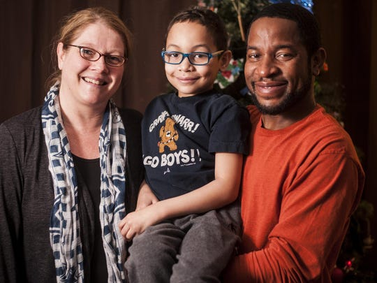 """Amy, Trayson and Eric Harrell can see the light at the end of the tunnel for Trayson's battle with sickle cell disease. """"It's been an amazing situation for us to not be so worried all the time. Hopefully by June the doctors will give us that classification of being cured,"""" Eric said."""