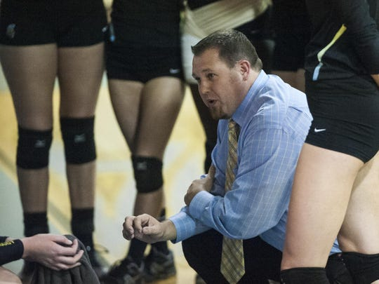 University of Providence head volleyball coach Arunas Duda