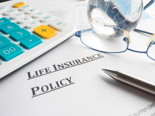 Life insurance policy with crystal ball.