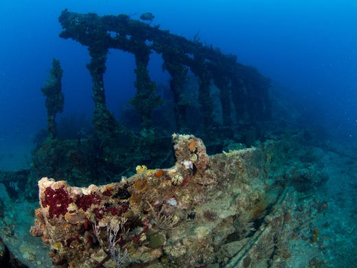 <strong>No. 2: Wreck of the RMS Rhone - British Virgin Islands. </strong>It&#39;ll take at least two dives to fully explore the wreck of the Rhone in the British Virgin Islands, but it&#39;s well worth the effort. Descending down toward the ghostly ship, divers can see schools of Sennets, grunts and barracuda. The hull is covered in orange cup corals.
