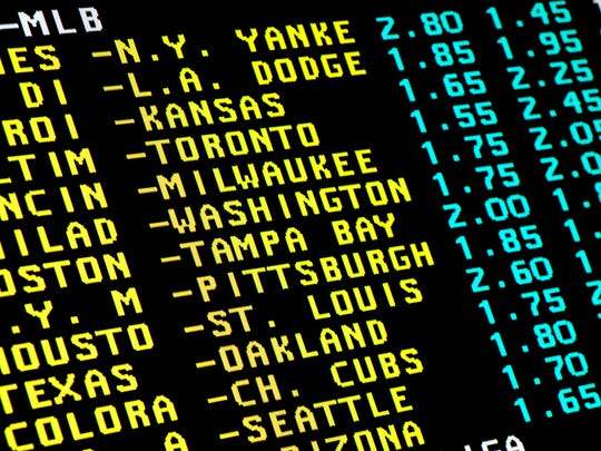 A sports betting wager board.