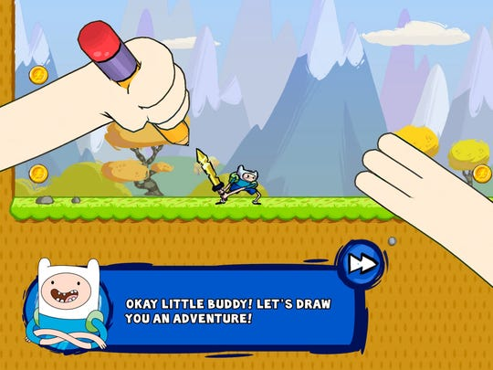 Fans of Finn and Jake help them take on the Doodle Wizard and then learn to draw their own platforming puzzle games in Adventure Time Game Wizard.