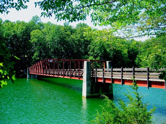 The bike bridge at Tims Ford State Park is one of the popular spots in the park.