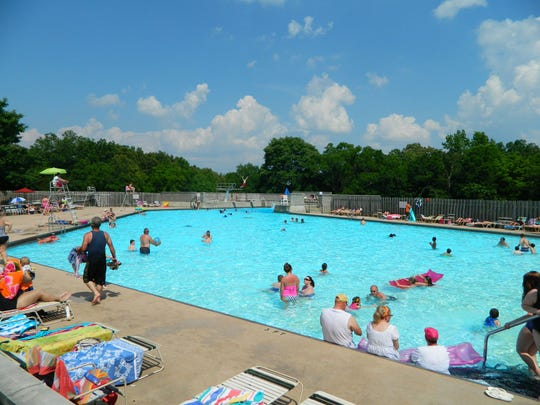 Swimming pool at Tims Ford State Park.
