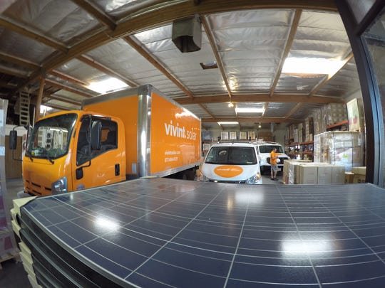 The Vivint Solar warehouse in Cathedral City.