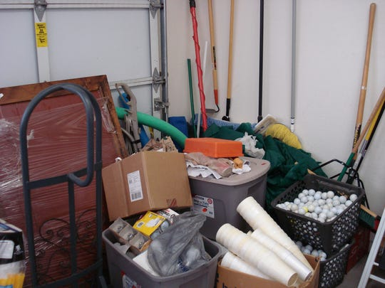 You need to sort through all the heaps of junk in your garage before it gets too hot to go out there.