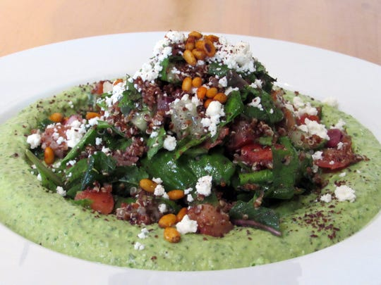 "Pita Jungle's ""Celebration of Women"" menu includes dishes, like the red quinoa salad with cilantro jalapeno hummus, created with mom in mind."