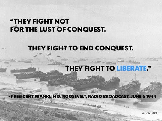 D Day Quotes They fight not for the lust of conquest. They fight to end conquest' D Day Quotes