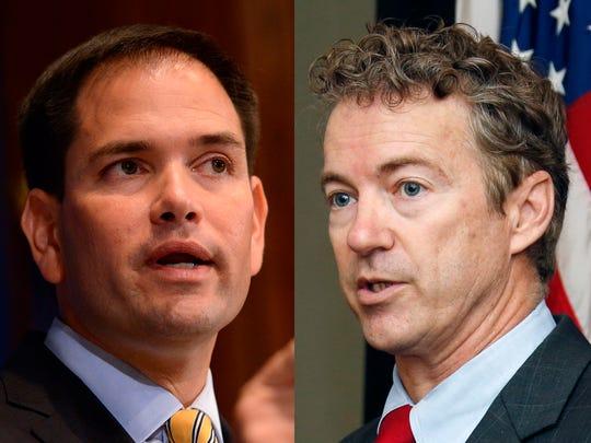 Republican Sens. Marco Rubio of Florida and Rand Paul