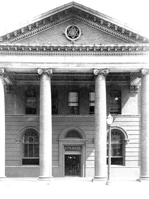 The Pennsylvania Depot's monumental portico centered on its long southern façade sheltered passengers entering the gable-roofed building from North E Street. The history passing through these doors is inestimable.