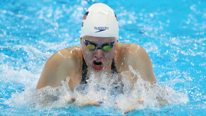 Lilly King (USA) during the women's 100m breaststroke heats.