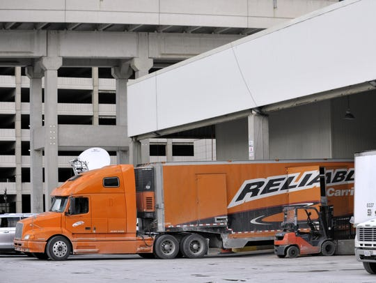 More than 3,500 trucks come and go from the convention