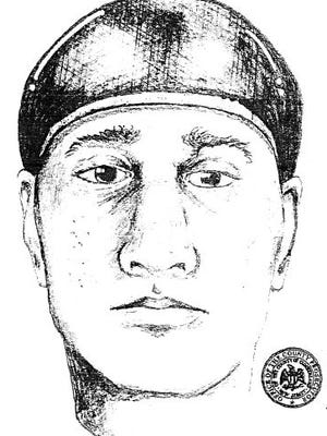 Composite sketch of man wanted in connection with kidnapping.