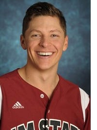 New Mexico State junior pitcher Tyler Erwin.