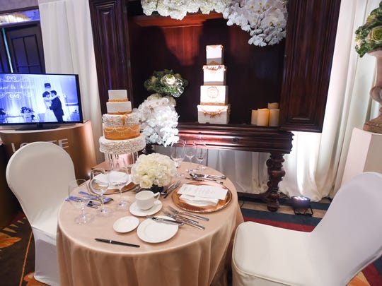 A display by Lotte Hotel Guam during the 18th Annual Weddings in Paradise show at the Sheraton Laguna Guam Resort on March 24, 2018.