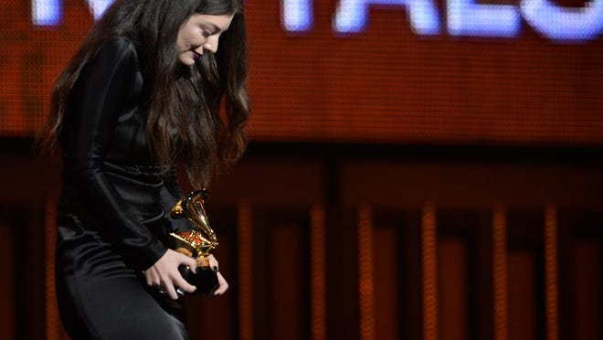 Lorde wins best pop solo for 'Royals' at the 56th Annual Grammy Awards earlier this year. Two San Francisco radio stations have banned the song for the duration of the World Series.