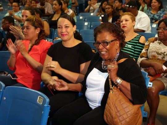 Regent Judith Johnson, who died early Tuesday, is seen during a 2015 visit to Yonkers' Cross Hill Academy.