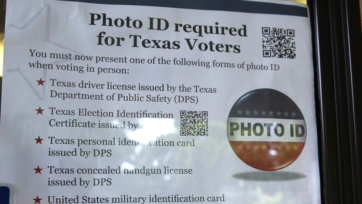 voting id law in texas If you're in texas, you have got to drive 120 miles to get an id  the statistic  comes from testimony against texas' voter id law, which required.