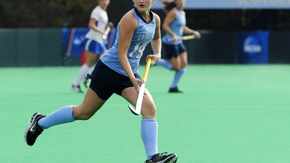 North Carolina's Lauren Moyer, a Central York graduate, had six goals and two assists as a freshman for the Tar Heels. (SUBMITTED)