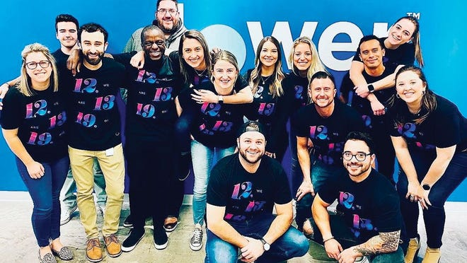Lower.com employees on the company's 1-year anniversary.