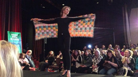 The Koigu fashion show at Vogue Knitting Live 2015 demonstrated some of the many designs created with Koigu's colorful hand-painted yarns.