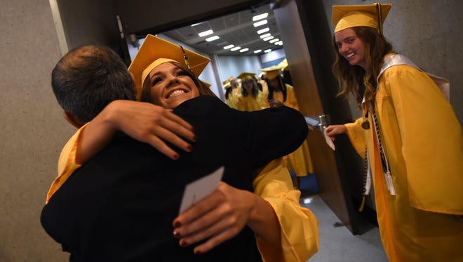 Galena High School celebrates its commencement ceremony at Lawlor Events Center in Reno on June 12, 2015.
