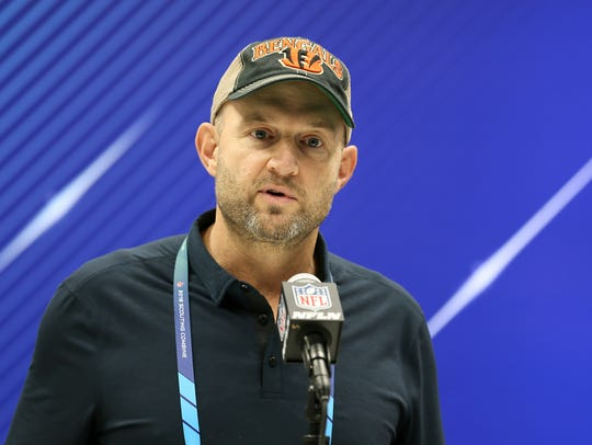 Bengals Director of Player Personnel Duke Tobin speaks