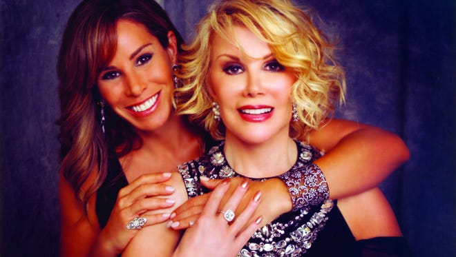 Melissa Rivers, left, has written a memoir about her late mother called 'The Book of Joan.'