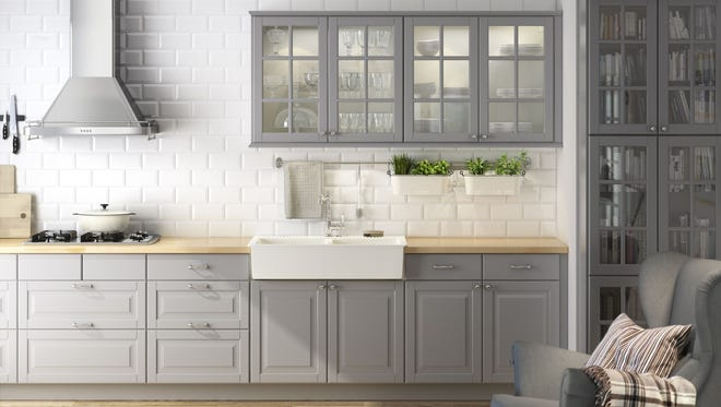 Ikea's new Lidingo gray cabinets fit a popular kitchen trend. According to the National Kitchen and Bath Association, shades of grey are very popular in kitchens and baths.
