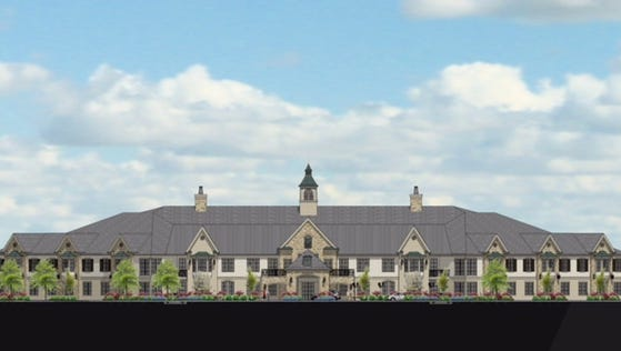 This rendering shows the concept for the skilled nursing facility at The Farms at Bailey Station.