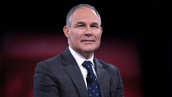 Administrator Pruitt was sworn in by Supreme Court Justice Samuel Alito at 5:40 p.m.  Feb. 17, 2017 and subsequently resigned as Attorney General of Oklahoma.