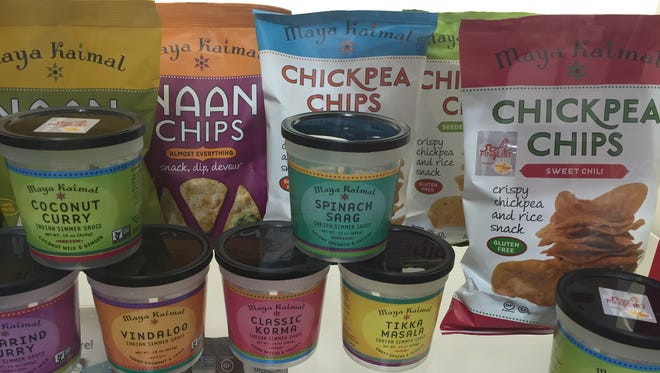Upgraded snacking: chickpea chips and naan chips were among the popular trends at the Summer Fancy Food Show in New York City this week.