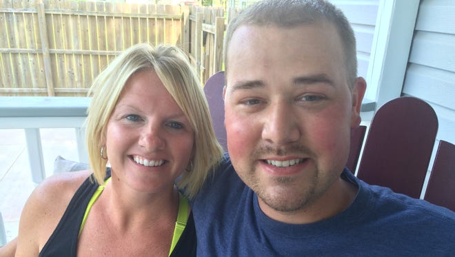 Crystal and Justin Norenberg at their home in Mosinee.