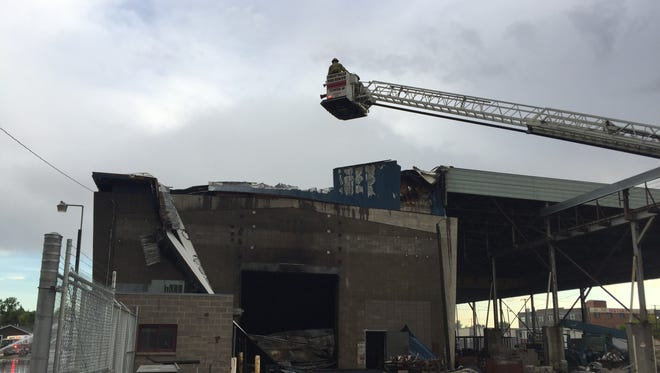 Battalion Chief Bob Shupe said the building that was to house Gerber's of Montana new fabrication shop is likely a complete loss.