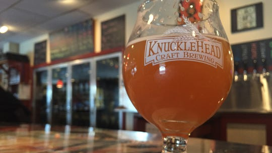 Knucklehead's first NE-style IPA, Tainted Haze.