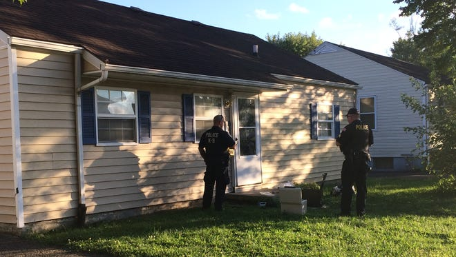 Law enforcement served a search warrant at 976 Gilmore St. after a drug overdose on Tuesday.