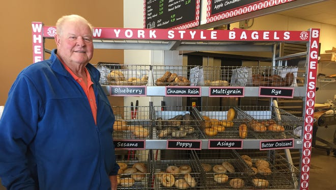 Gary Wheeler, former Indian River County commissioner and sheriff, poses in his bagel shop in Johnson City, Tennessee, March 15, 2018.