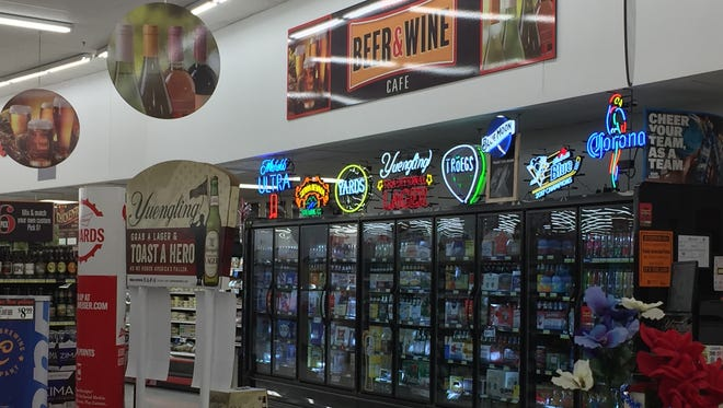 The beer and wine cafe inside the Redner's Warehouse Markets in Palmyra is possible through a restaurant license issued by the PLCB.